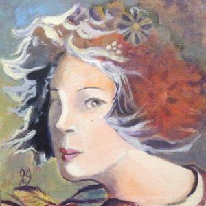 portrait jeune femme aux fleurs