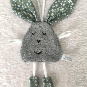 doudou lapin fleur