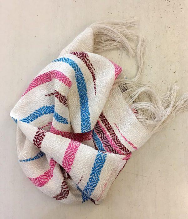 écharpe lin et soie