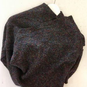 étole gris chinée multicolore